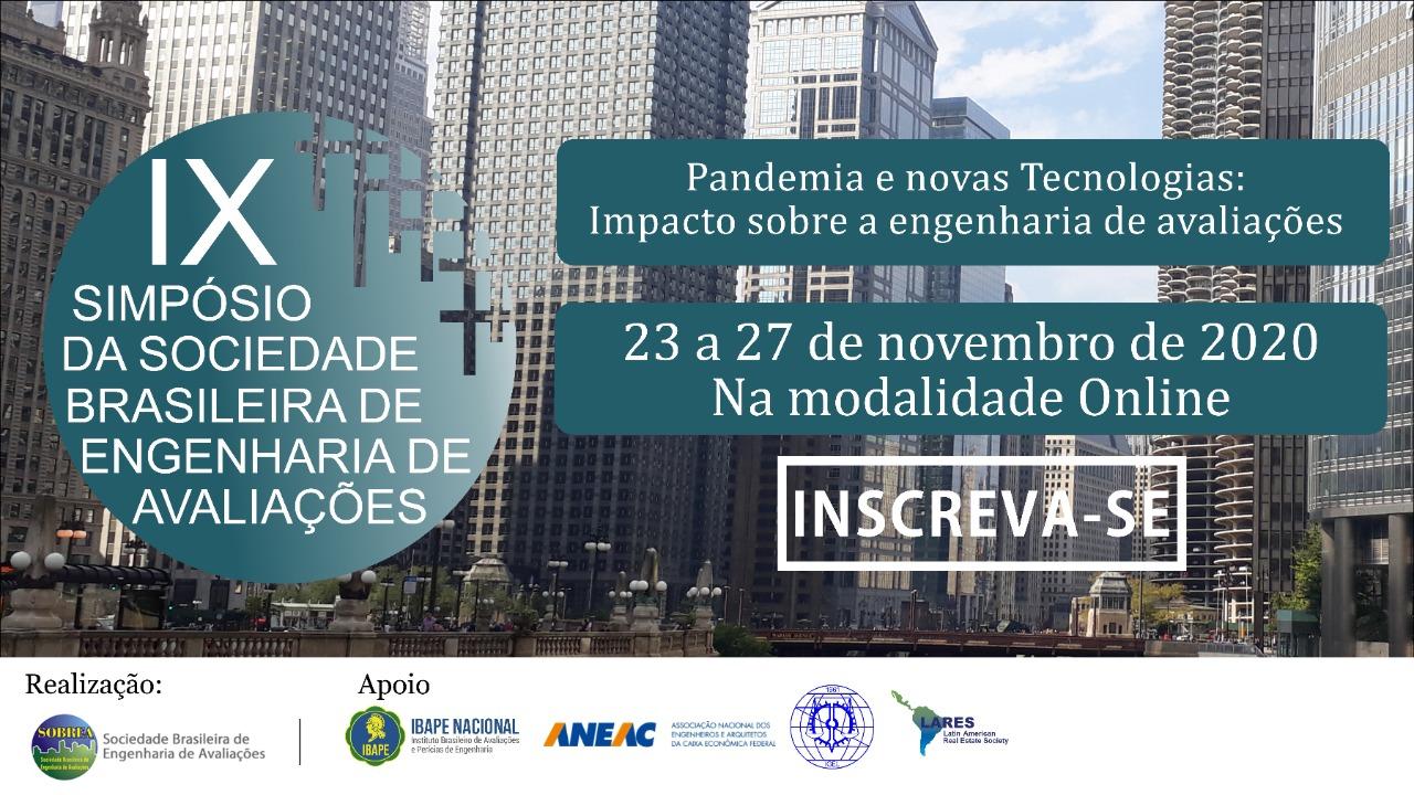 IX Simpósio Online da Sociedade Brasileira de Engenharia de Avaliações