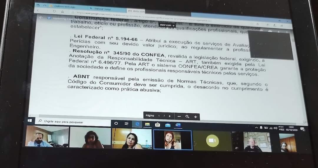 5ª REUNIÃO DA COMISSÃO TEMÁTICA DE ENGENHARIA DE AVALIAÇÕES E PERÍCIA DO CONFEA