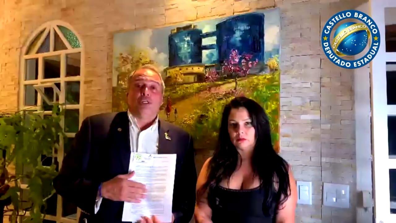 Karine Moreira e o Dep. Castello Branco (PSL/SP)